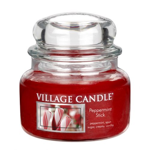 VILLAGE CANDLE / Svíčka ve skle Peppermint Stick - malá