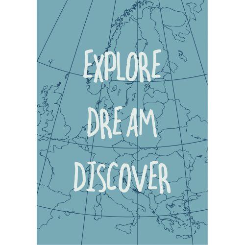 IB LAURSEN / Plechová ceduľa Explore Dream Discover