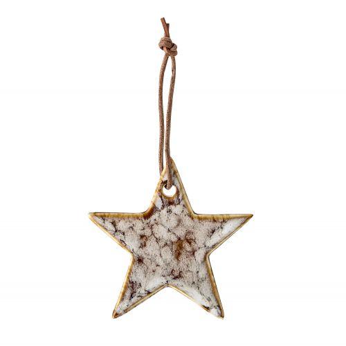 Bloomingville / Keramická vianočná ozdoba Star