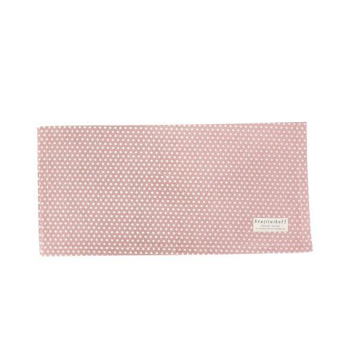 Krasilnikoff / Bavlnený obrúsok Micro Dots Dusty Rose
