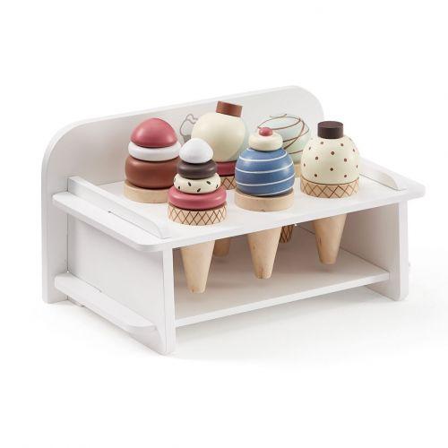 Kids Concept / Drevené zmrzlinové kornútky Ice cream set