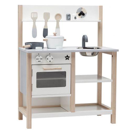 Kids Concept / Drevená kuchynka na hranie Natural White Bistro