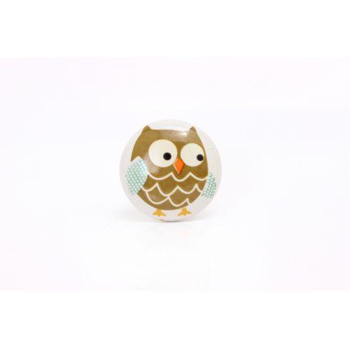 La finesse / Porcelánová úchytka Owl
