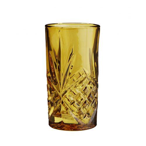 MADAM STOLTZ / Vysoký pohár Glass Amber