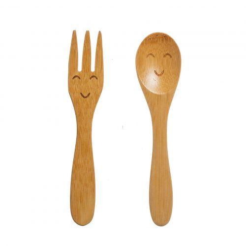 sass & belle / Detský bambusový príbor - set 2 ks
