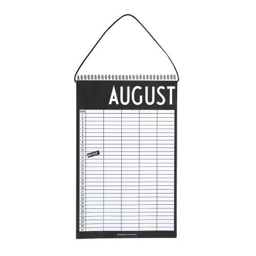 DESIGN LETTERS / Nekonečný mesačný kalendár / plánovač Monthly Planner