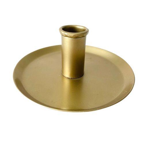 MADAM STOLTZ / Ručne kovaný svietnik Antique Brass 15 cm