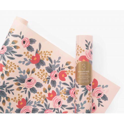 Rifle Paper Co. / Baliaci papier Blushing Rosa - 3 archy