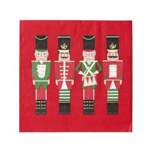 Talking Tables / Vianočné papierové obrúsky Botanical Nutcracker