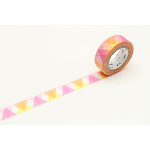 mt / Japonská papierová páska Pink Triangle and Diamond