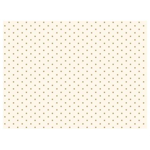Maileg / Hodvábny papier White/gold dots - 10 kusov