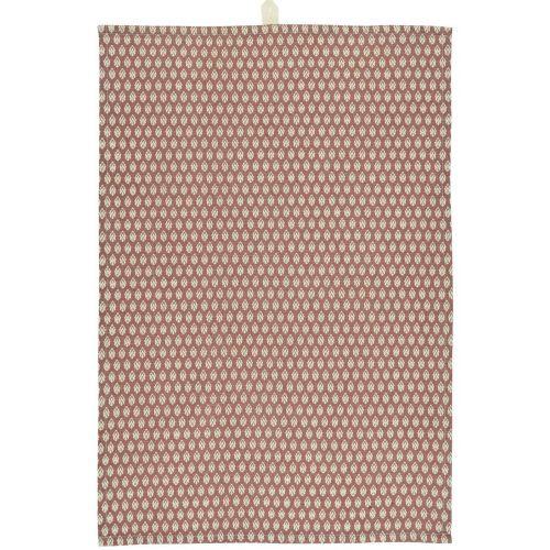 IB LAURSEN / Bavlnená utierka Faded Rose Pattern 50×70 cm