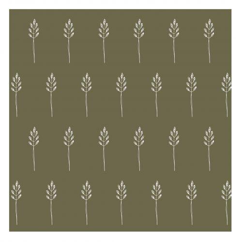 IB LAURSEN / Papierové obrúsky Wild Wheat Autumn green - 20 ks