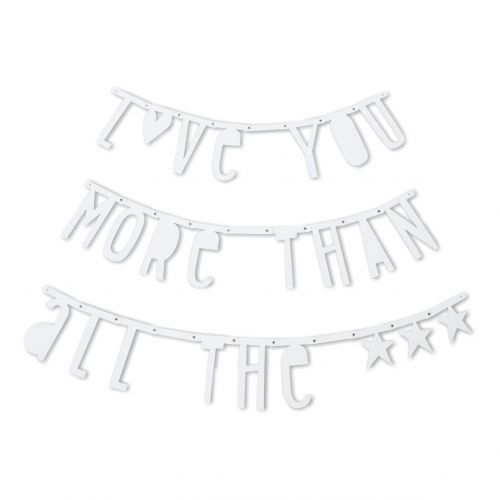 A Little Lovely Company / Písmenková girlanda Letter Banner White