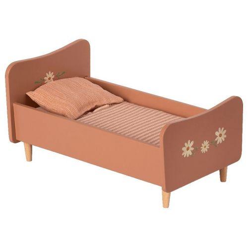 Maileg / Drevená posteľ pre zvieratká Maileg Rose Mini
