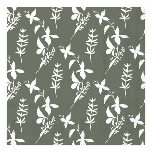 Chic Antique / Papierové servítky Flowers Moss Green 20 ks