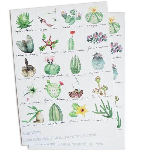MANKAI Paper / Papierové pexeso Verdant Succulents