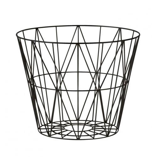 ferm LIVING / Drôtený kôš Black - medium