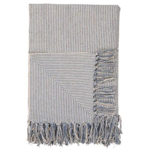 IB LAURSEN / Bavlnený prehoz Light Blue Small Stripes