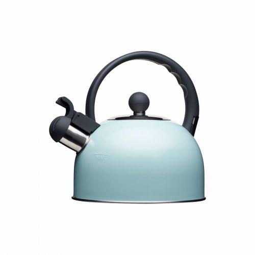 Kitchen Craft / Nerezová kanvica Whistling Kettle Vintage Blue 1,4 l