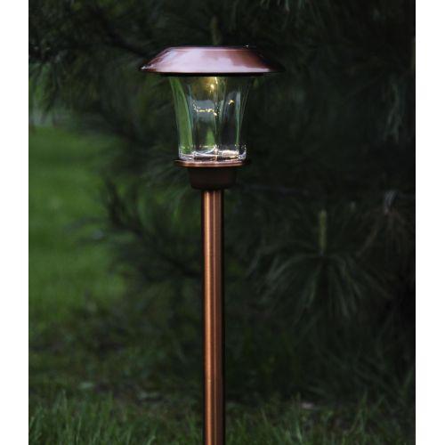 STAR TRADING / Záhradné svetlo na solárne napájanie Antique copper 48 cm