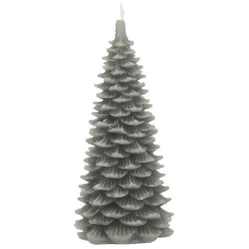 IB LAURSEN / Vianočná sviečka Christmas Tree Grey 20 cm