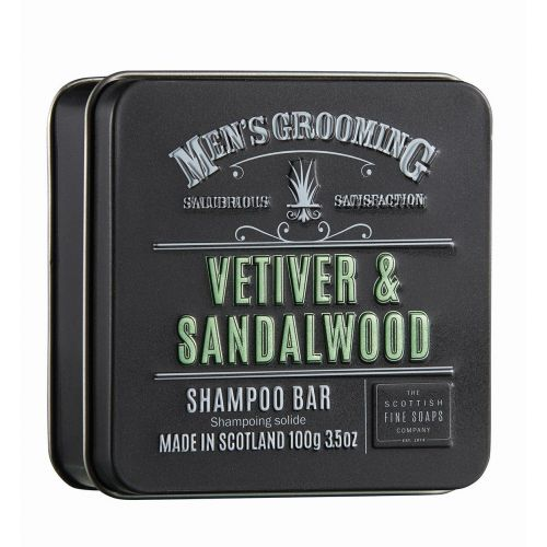 SCOTTISH FINE SOAPS / Pánsky tuhý šampón Vetiver a santalové drevo 100g