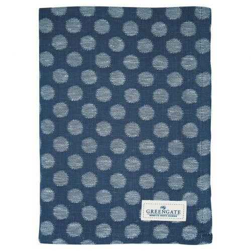 GREEN GATE / Bavlnená utierka Jacquard Savannah Blue