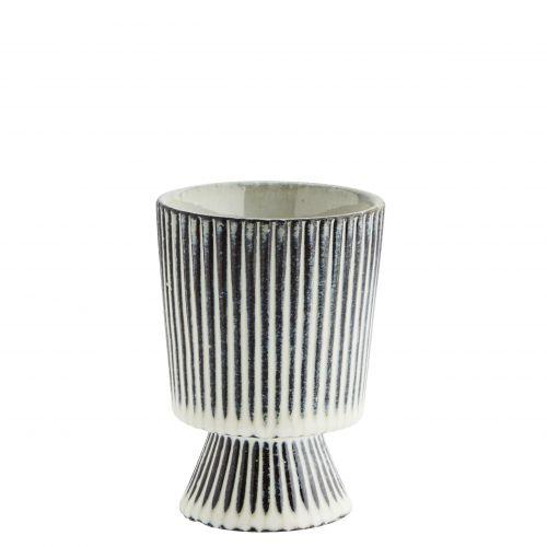 MADAM STOLTZ / Keramický obal na kvetináč Stripes 10,5 cm