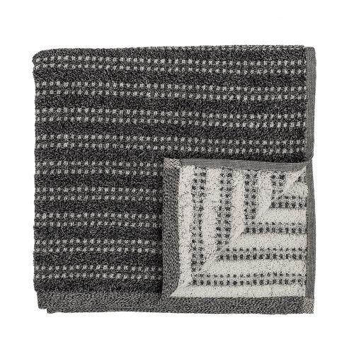 Bloomingville / Froté uterák Black 100x50 cm