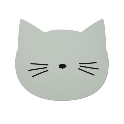 LIEWOOD / Detské prestieranie Cat Dusty Mint