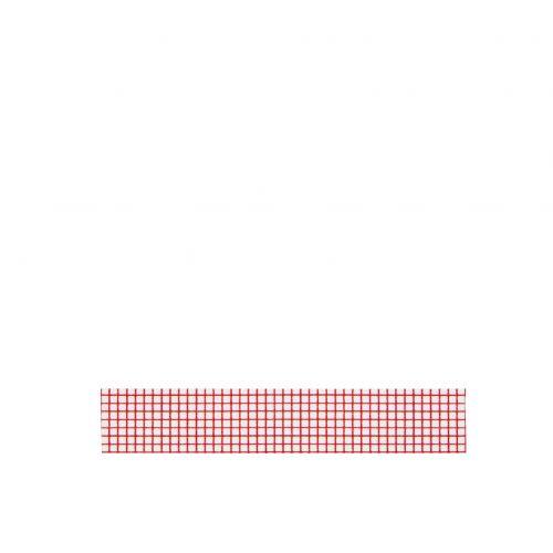 MADAM STOLTZ / Dizajnová samolepiaca páska Squared white/red