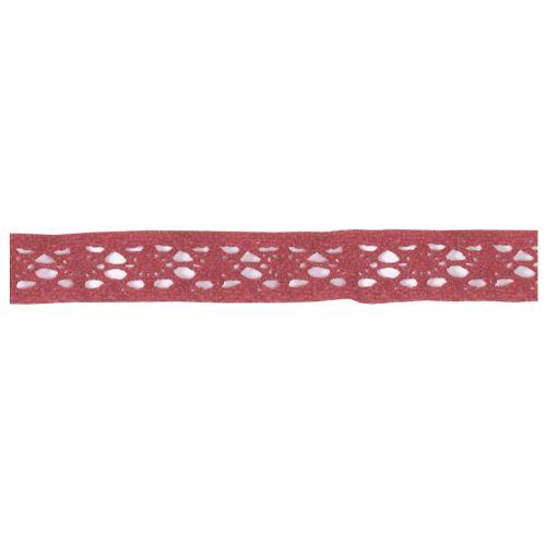 Maileg / Dekorativní krajková stuha - red