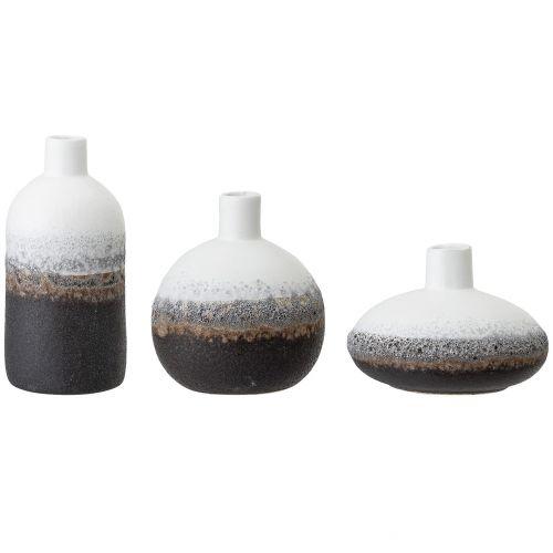 Bloomingville / Sada keramických váz Brown & White Stoneware