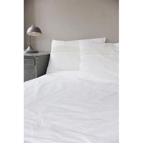 Jeanne d'Arc Living / Bavlnené obliečky s krajkou Cotton White 140x200