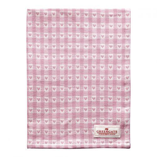 GREEN GATE / Bavlnená utierka Heart Petit Pale Pink