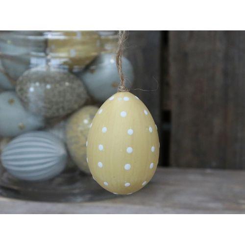 Chic Antique / Závesné plastové vajce Melon Dots