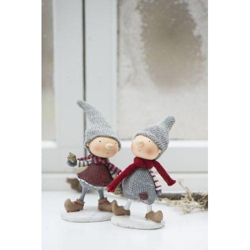 IB LAURSEN / Vánoční figurka Santa's helper Girl/Boy
