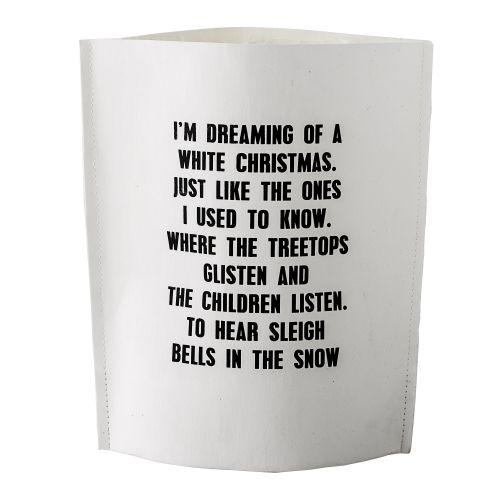 Bloomingville / Darčekový sáčok Dreaming of a White Christmas