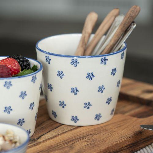 IB LAURSEN / Latte cup Casablanca Bloom Blue 250ml