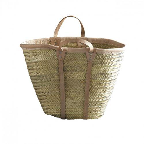 Tine K Home / Slamená taška Tine K Home Nature - krátke uchá