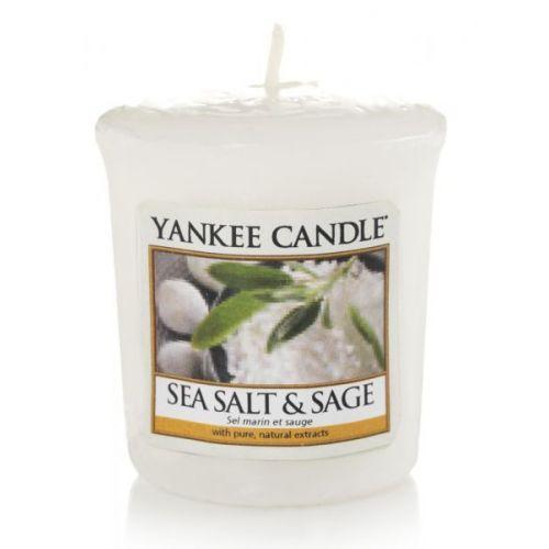 Yankee Candle / Votívna sviečka Yankee Candle - Sea Salt & Sage