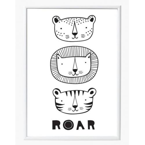 A Little Lovely Company / Plakát Roar 50x70 cm