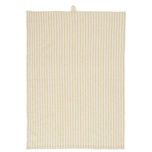IB LAURSEN / Bavlnená utierka Small Mustard Stripes 50 x 70 cm