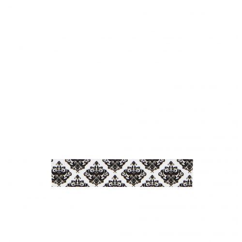 MADAM STOLTZ / Dizajnová samolepiaca páska Ornament white/black