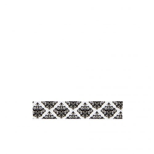 MADAM STOLTZ / Designová samolepící páska Ornament white/black