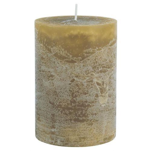 IB LAURSEN / Okrúhla sviečka Rustic Mustard 10 cm