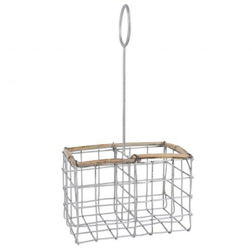 IB LAURSEN / Drôtený držiak na solničku a koreničku Wire & Bamboo