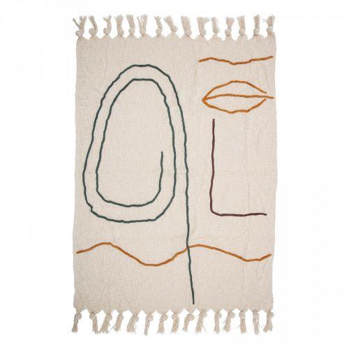 Bloomingville / Bavlnený prehoz Nature Cotton 150×125 cm
