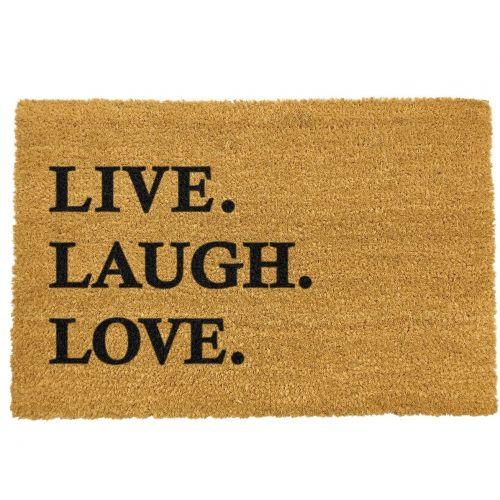 Artsy Doormats / Rohožka Live Laugh Love